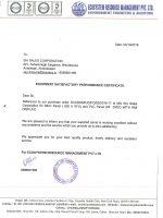 Uttam Dairy Perfomance Certificate-1